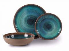 kampa dusk blue heritage salad bowl