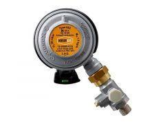 Gassregulator, click-on med testpoint