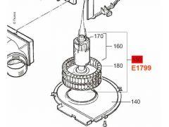 Truma 12 V motor og viftehjul, TEB-2/TEN-2