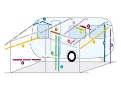 DWT Veranda-/takstang, 2 klembøyler 115-200 cm