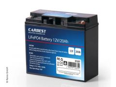 Carbest LiFePO4 Batteri 12v 20Ah