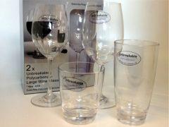 Rødvinsglass Unbreakable 2 stk.