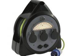 Outwell Mensa kabeltromle med CEE stik, med USB og lys.