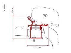 Fiamma Adapter F65 VW Crafter f. 2017 uten takskinner