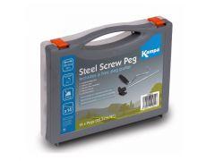 Kampa Steel Screw Peg Pack med opptrekker